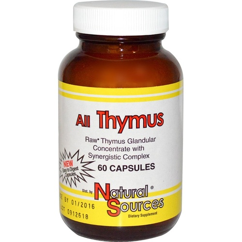 Natural Sources, All Thymus Glandular, 60 Capsules