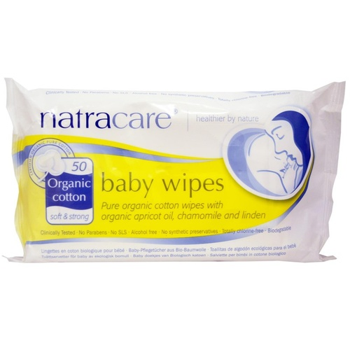 Natracare, Organic, Cotton Baby Wipes, 50 Wipes