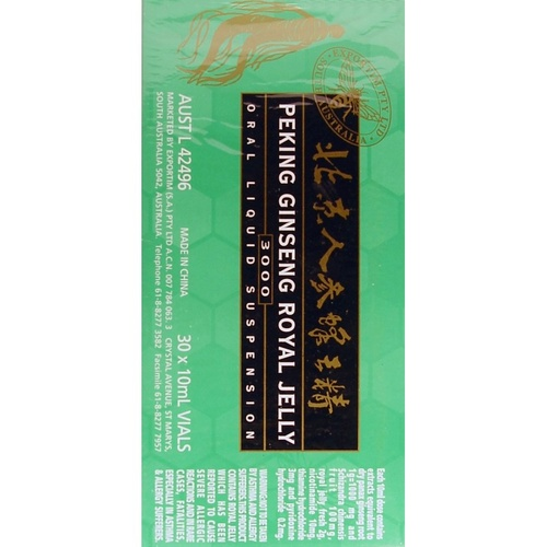 Exportim Peking Ginseng Royal Jelly 3000 30 X 10 ml Vials