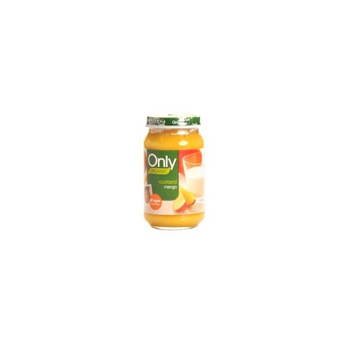 Only Organic, Baby Food, 6 Months +, Mango Custard, 6 Jars x 120 g