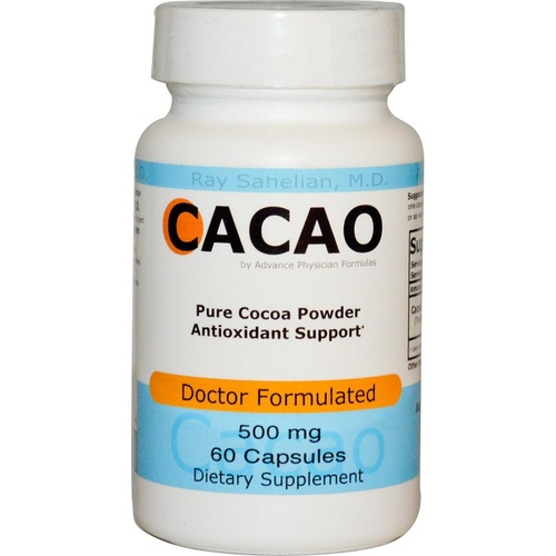 Advance Physician Formulas, Inc., Cacao, 500 mg, 60 Capsules