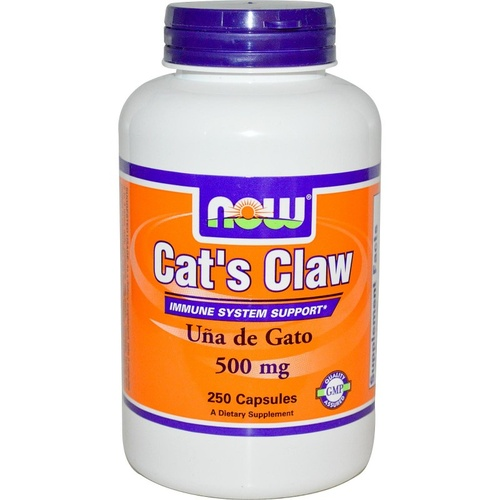 Now Foods Cat's Claw 500mg 250 Capsules - Dietary Supplement