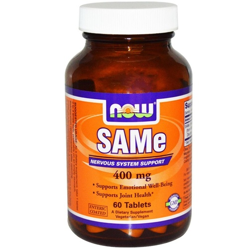 Now Foods SAMe 400mg 60 Tablets - Dietary Supplement