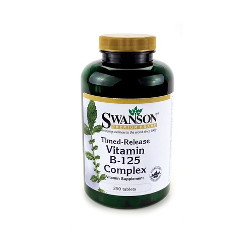 Swanson Premium Vitamin B-125 Time Release 250 Tablets