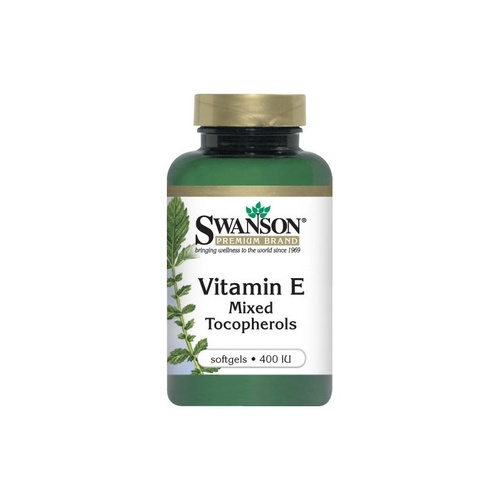 Swanson Premium Vitamin E Mixed Tocopherols 400 IU 100 Softgels