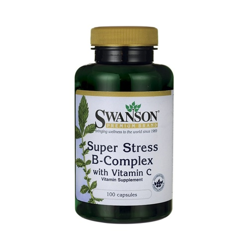 Swanson Premium Super Stress Vitamin B-Complex With Vitamin C 100 Caps